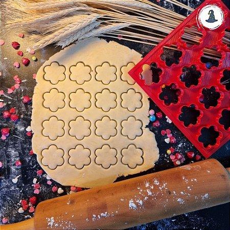 Placa Circulo Escalope - 16 Cortadores de 3,5cm 6 Pontas