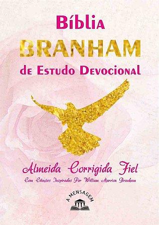 Bíblia Branham de Estudo Devocional Capa Brochura - Rosa