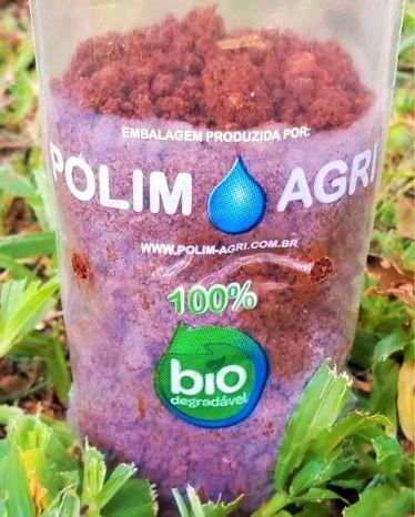 Saco Para Mudas Biodegradável - Tamanho 16 x 30 x 06 - Kit c/ 10 saquinhos