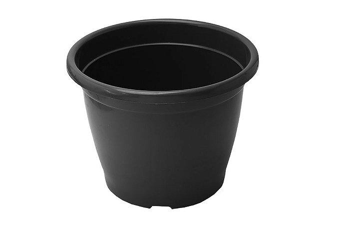 Vaso Plástico P25 - Preto - 5 Litros