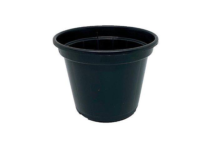 Vaso Plástico P15 - Preto - 1,3 Litros