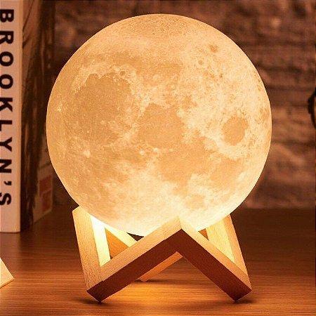 Umidificador de Ar e Luminária Lua 3D - Aromatizador de Amabientes