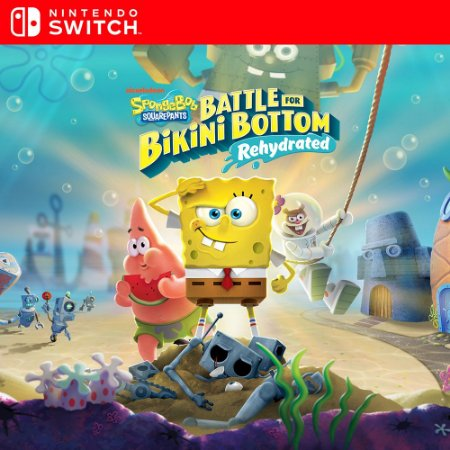 Bob Esponja Calça Quadrada: Batalha pelo Biquíni – Rehydrated - Nintendo Switch Mídia Digital