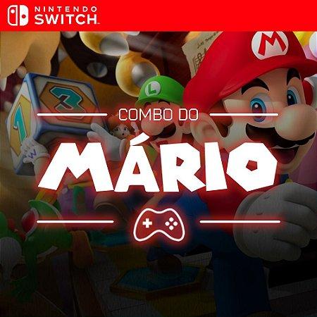 Combo do Mário escolha 2 jogos - Nintendo Switch Mídia Digital