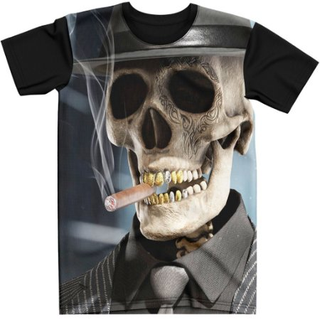 Stompy Camiseta Tattoo Tatuagem Skull Caveira 01