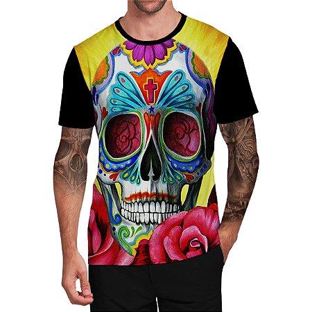 Stompy Camiseta Tattoo Tatuagem Skull Caveira 04