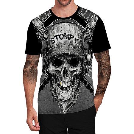 Stompy Camiseta Tattoo Tatuagem Skull Caveira 07