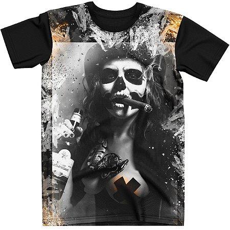 Stompy Camiseta Tattoo Tatuagem Skull Caveira 12
