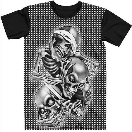 Stompy Camiseta Tattoo Tatuagem Skull Caveira 17