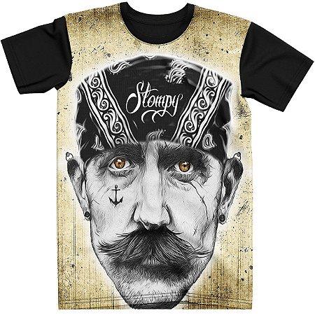 Stompy Camiseta Tattoo Tatuagem Skull Caveira 19