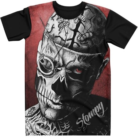 Stompy Camiseta Tattoo Tatuagem Skull Caveira 30
