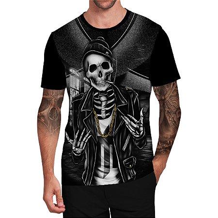 Stompy Camiseta Tattoo Tatuagem Skull Caveira 31