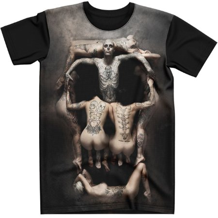 Stompy Camiseta Tattoo Tatuagem Skull Caveira 39