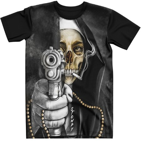 Stompy Camiseta Tattoo Tatuagem Skull Caveira 43