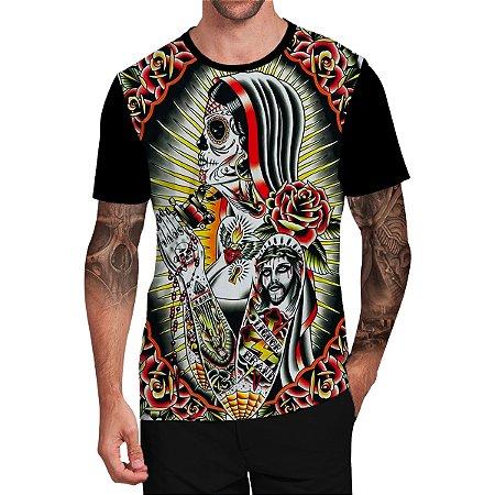 Stompy Camiseta Tattoo Tatuagem Skull Caveira 48