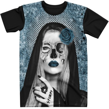 Stompy Camiseta Tattoo Tatuagem Skull Caveira 81