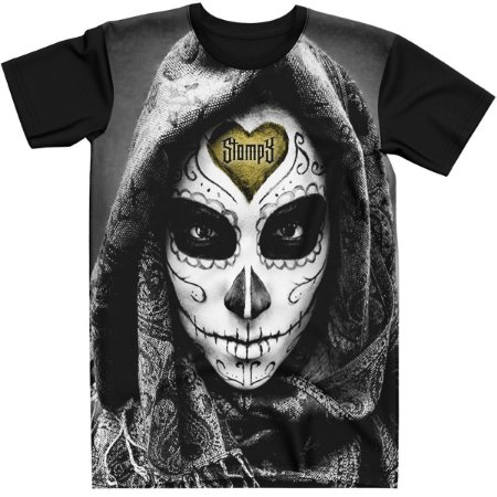Stompy Camiseta Tattoo Tatuagem Skull Caveira 84