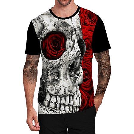 Stompy Camiseta Tattoo Tatuagem Skull Caveira 90