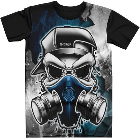 Stompy Camiseta Tattoo Tatuagem Skull Caveira 91