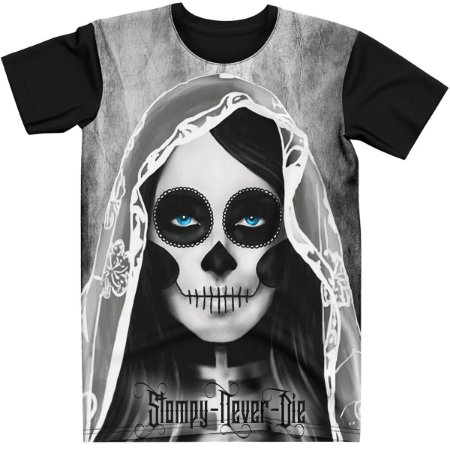 Stompy Camiseta Tattoo Tatuagem Skull Caveira 96