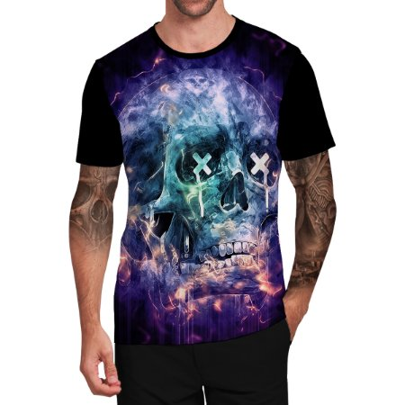Stompy Camiseta Tattoo Tatuagem Skull Caveira 109
