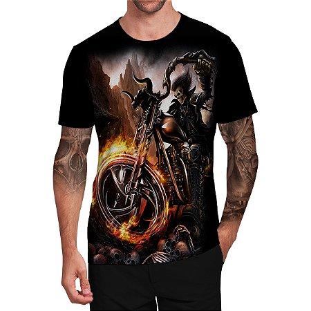 Stompy Camiseta Tattoo Tatuagem Skull Caveira 111