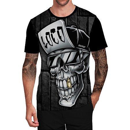 Stompy Camiseta Tattoo Tatuagem Skull Caveira 120