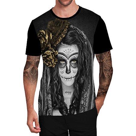 Stompy Camiseta Tattoo Tatuagem Skull Caveira 122