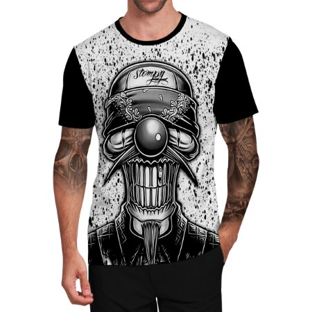 Stompy Camiseta Tattoo Tatuagem Skull Caveira 124