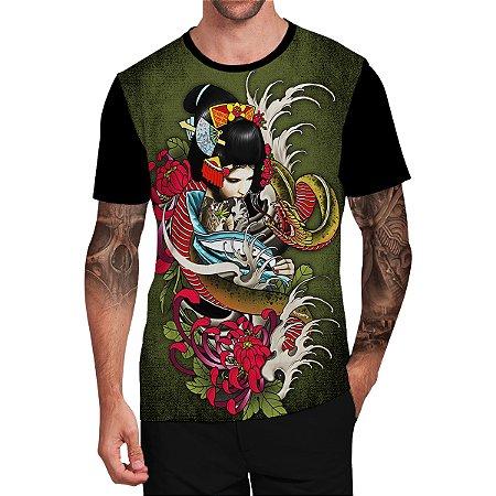 Stompy Camiseta Tattoo Tatuagem Skull Caveira 129