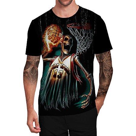 Stompy Camiseta Tattoo Tatuagem Skull Caveira