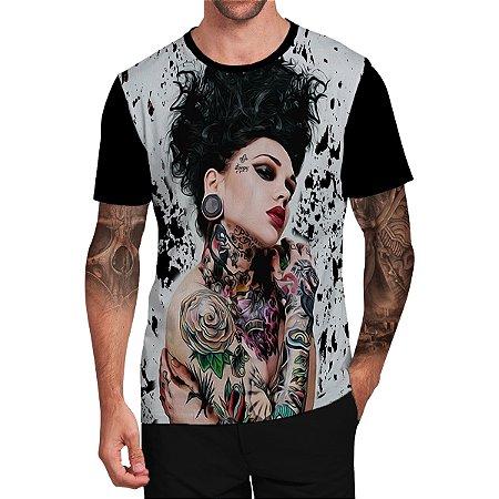 Stompy Camiseta Tattoo Tatuagem Skull Caveira 136