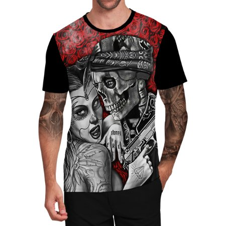 Stompy Camiseta Tattoo Tatuagem Skull Caveira 137