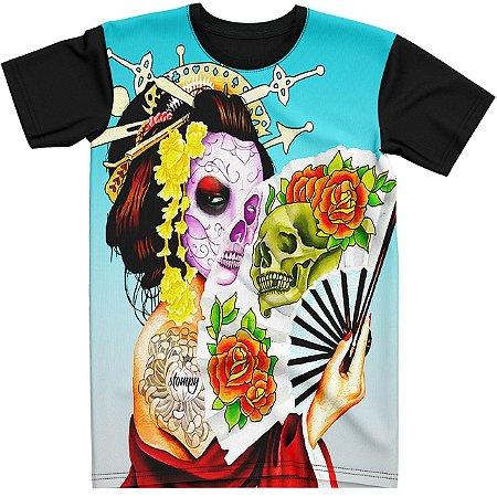 Stompy Camiseta Tattoo Tatuagem Skull Caveira 140