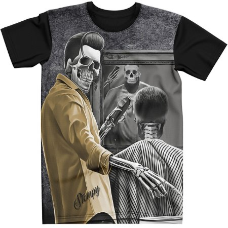 Stompy Camiseta Tattoo Tatuagem Skull Caveira 144