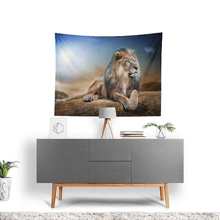 Stompy Tecido Decorativo Tactel Lion Jungle