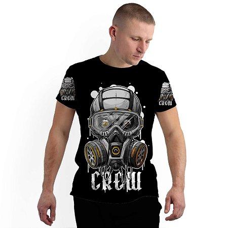 Stompy Camiseta Full Print Skull Gas Mask