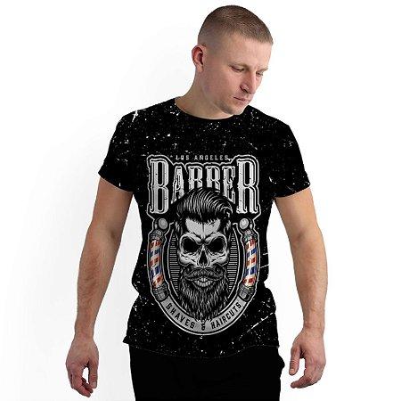 Stompy Camiseta Full Print Barbershop