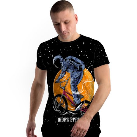 Stompy Camiseta Full Print Astronaut Biker