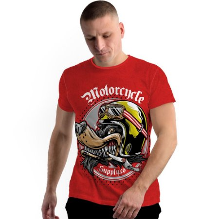 Stompy Camiseta Full Print Motorcycle