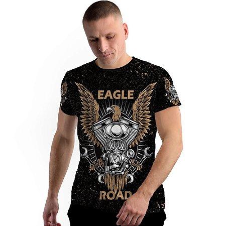 Stompy Camiseta Full Print Eagle Moto Road