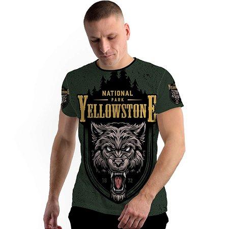 Stompy Camiseta Full Print Wolf Yellowstone