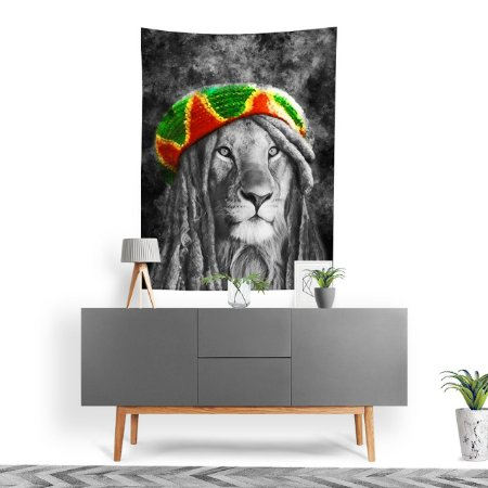 Stompy Tecido Decorativo Tactel Lion Reggae Music