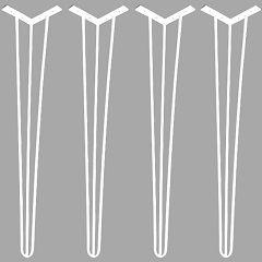 4 Hairpin Legs com 73cm de altura - Pintura em Branco Eletrostático