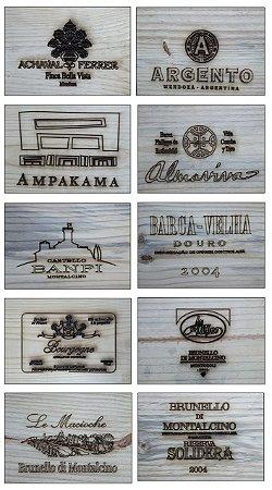 Placas Decorativas - Rótulos de Vinhos e Champagnes