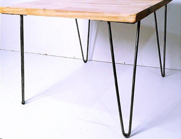 4 Hairpin Legs Pintados em Prata Envelhecido - 45cm de altura