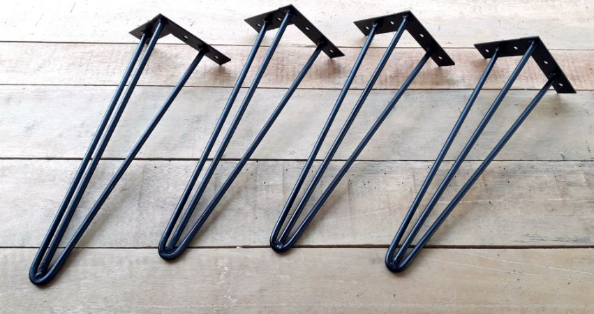 4 Hairpin Legs com 45cm de altura (triplos)