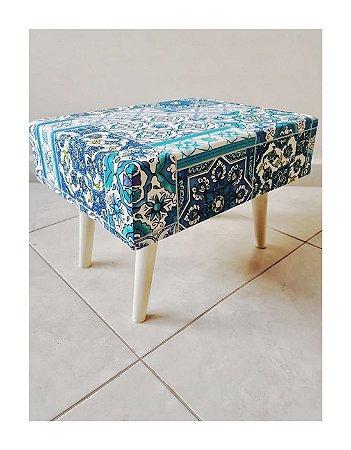 Banquinho Azulejo Azul