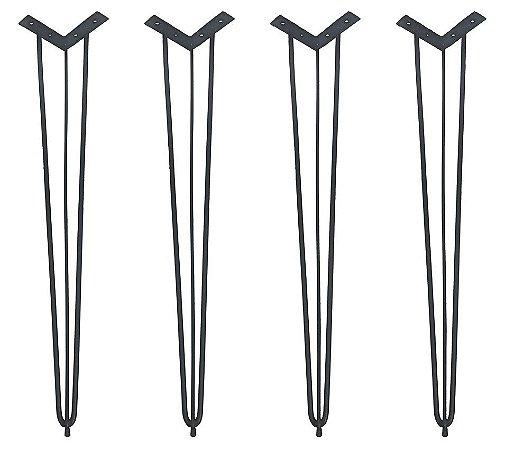 4 Hairpin Legs com 74cm alt com Pés de Borracha