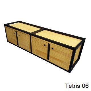 Linha Tetris - Nichos Decorativos para Parede - Modelos 06 a 10